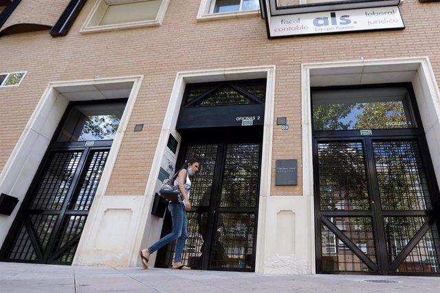 Edificio donde se produjo la agresión con arma blanca