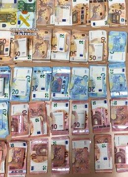 Dinero incautado en una asociación cannábica de Torre Pacheco