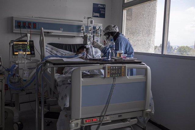 Un hospital en Chihuahua, México, durante la pandemia de coronavirus.