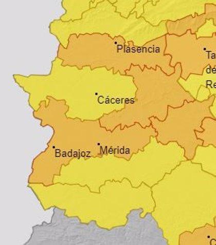 La alerta naranja por altas temperaturas se mantiene activa este viernes en varias comarcas de Extremadura