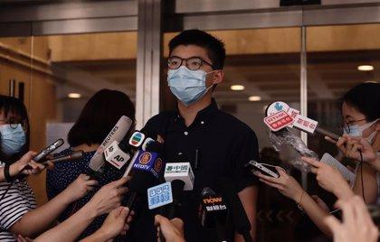 China.- Más de 20 activistas hongkoneses imputados, incluido Joshua Wong, por conmemorar el aniversario de Tiananmen