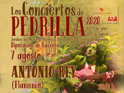 El flamenco de Antonio Rey llega este viernes a Los Conciertos de Pedrilla de la Diputación de Cáceres