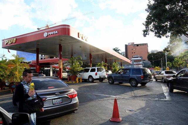 Gasolinera de PDVSA en Caracas