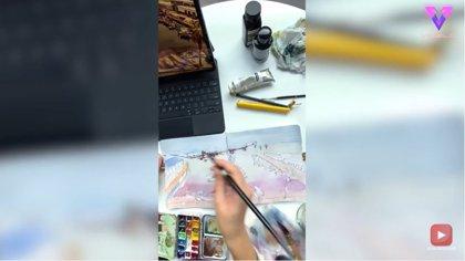 Esta artista pinta el mundo en acuarela desde su casa
