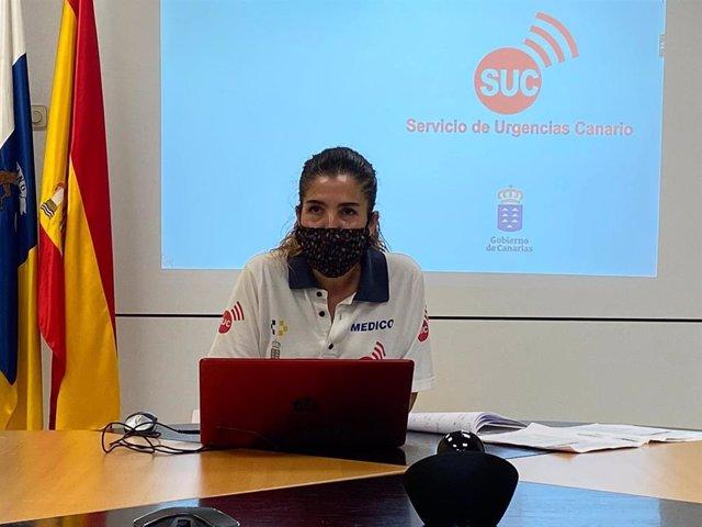 La médico coordinadora del SUC y responsable en Canarias de la 'Encuesta sero-epidemiológica de la infección por el virus SARS-CoV-2 en España', Noemí González