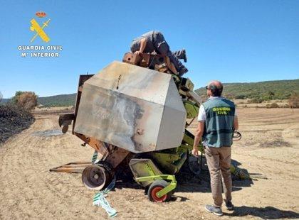 Investigado el dueño de la empacadora por el incendio forestal en Colina (Burgos)