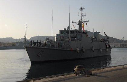El cazaminas 'Tambre' (M-33) regresa a Cartagena tras participar en la agrupación permanente contra minas de la OTAN