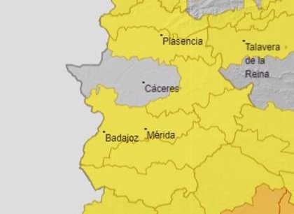 Toda Extremadura salvo la Meseta cacereña permanecerá este sábado en alerta amarilla por altas temperaturas