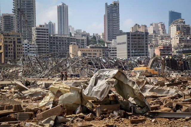Líbano.- Miles de personas se preparan para un solemne funeral por las víctimas