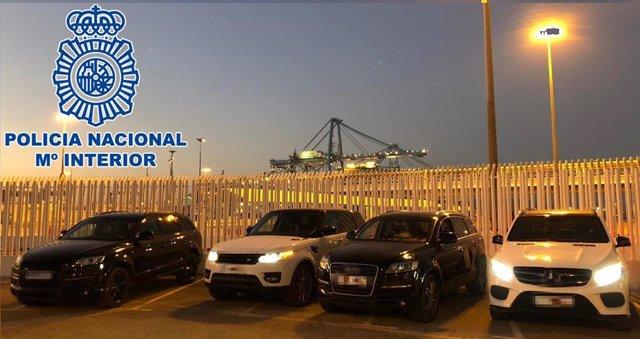 Cádiz.-Sucesos.- Dos detenidos en Algeciras que almacenaban supuestamente vehículos utilizados para transportar droga