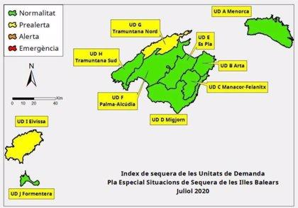 Las reservas hídricas de Baleares se sitúan en el 67% en julio