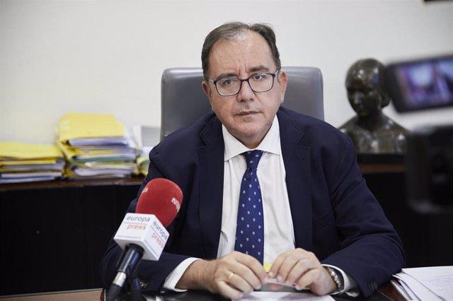 El secretario general de Instituciones Penitenciarias, Ángel Luis Ortiz, durante una entrevista para Europa Pres