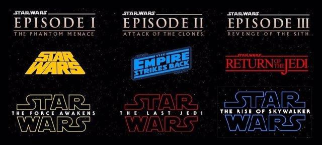 Logos de las películas de Star Wars