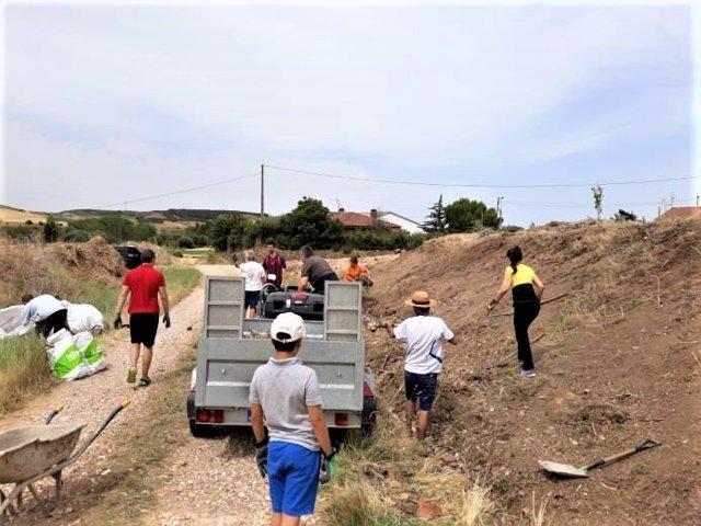Una de las acciones del voluntariado ambiental.