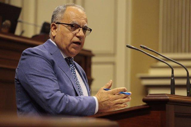 El portavoz de Agrupación Socialista Gomera (ASG) en el Parlamento de Canarias, Casimiro Curbelo