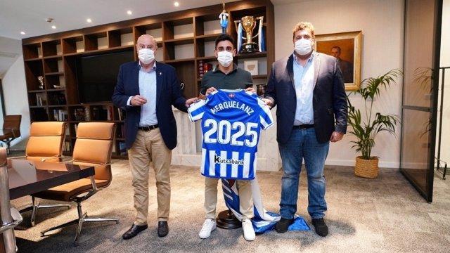 Fútbol.- Merquelanz renueva con la Real Sociedad hasta 2025