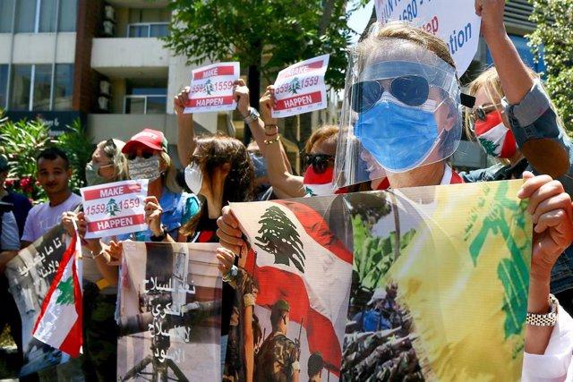 Líbano.- La Policía libanesa dispersa con gases lacrimógenos un conato de asalto