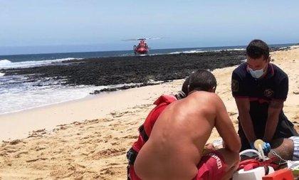 Fallece un bañista ahogado en Grandes Playas de Corralejo