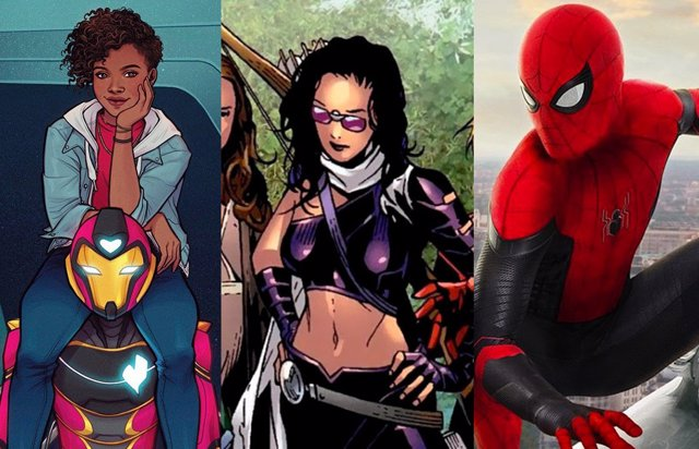 Spider-Man, Kate Bishop e Ironheart, personajes de Marvel