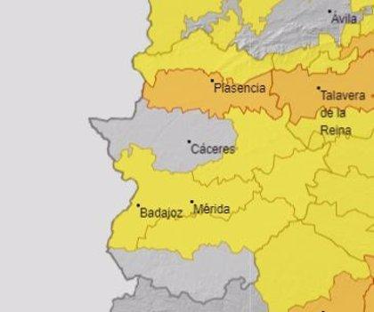 El 112 activa la alerta naranja por calor este domingo en Tajo y Alagón y la amarilla en varias zonas de Extremadura