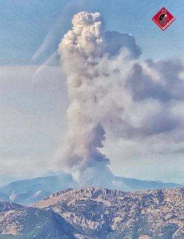 Incendio en Castell de Castells