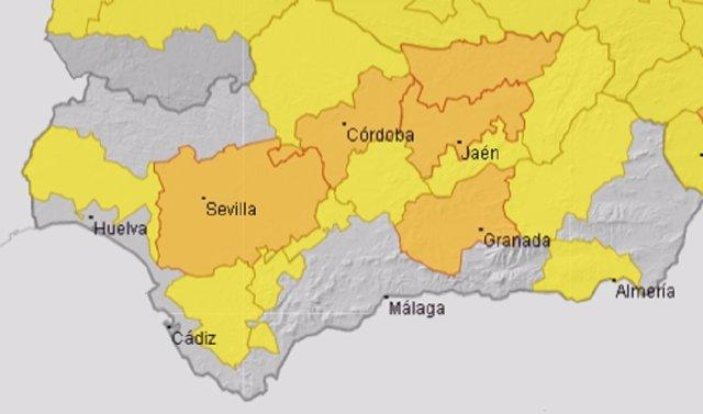 Activado para este domingo el aviso naranja por altas temperaturas en Córdoba, Sevilla, Granada y Jaén
