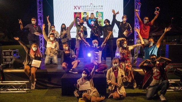 Galardonados en la gala de clausura del Festivalito La Palma