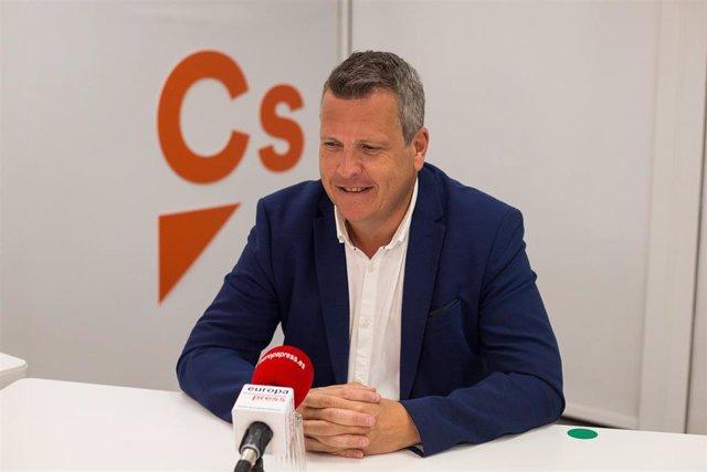 El vicesecretario general de Ciudadanos, Carlos Cuadrado, durante una entrevista con Europa Press en la sede de su partido en Madrid.