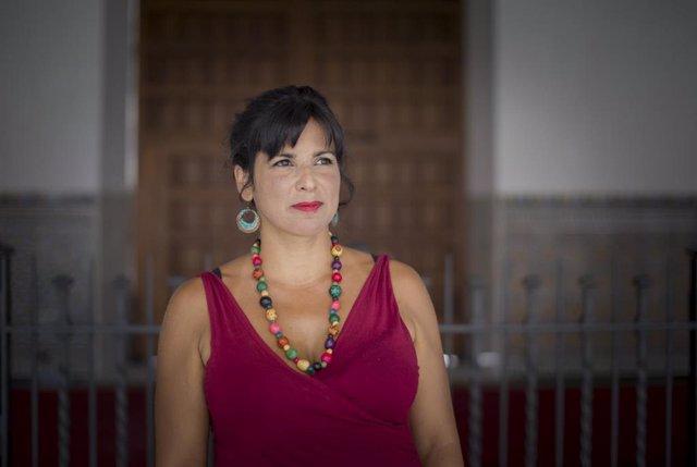 La Presidenta del Grupo Parlamentario de Adelante Adalucía, Teresa Rodríguez , durante una entrevista para Europa Press