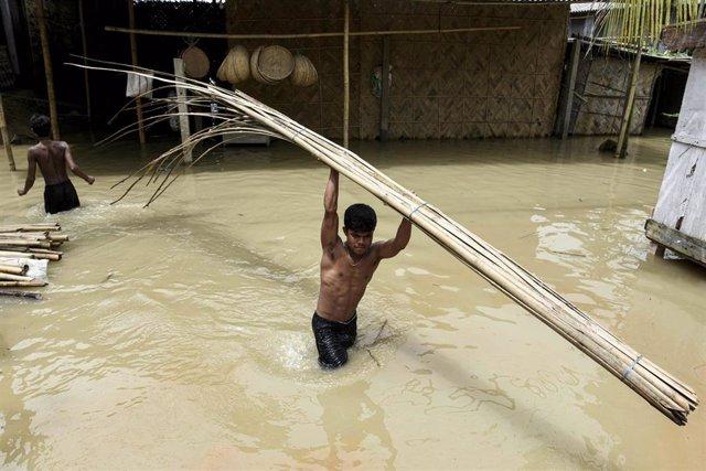 Inundaciones por el monzón en India