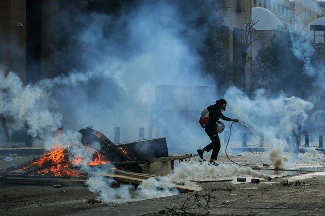Líbano.- Las fuerzas de seguridad libanesas confirman 175 heridos entre sus efec
