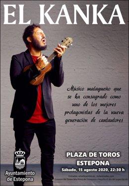Cartel del concierto de El Kanka en Estepona