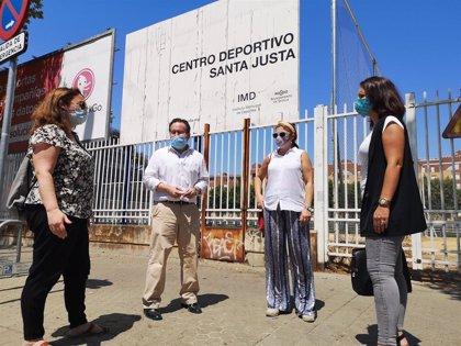"""Ciudadanos de Sevilla lamenta """"la preocupante dejadez"""" del Centro Deportivo Santa Justa y reclama su """"uso vecinal"""""""