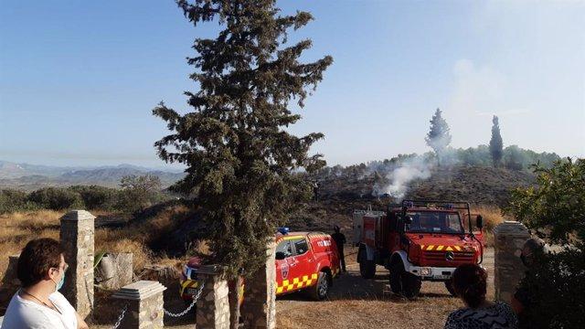 Detenido el presunto autor del incendio declarado este domingo en el Camino del Pradico (Lorca)