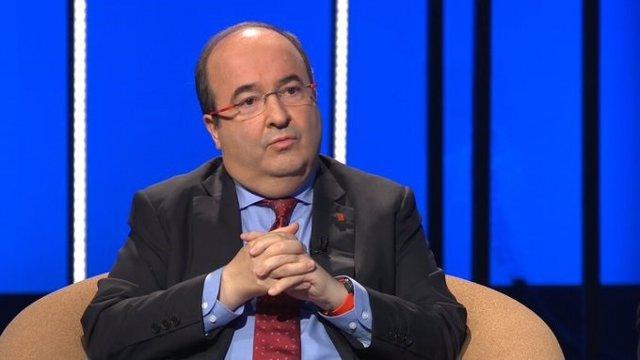 El líder del PSC, Miquel Iceta, entrevistat en Tv3