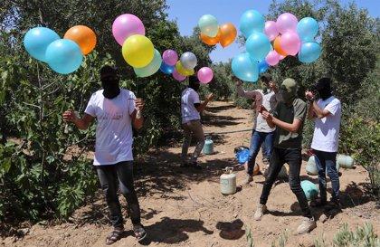 O.Próximo.- Israel bombardea posiciones de Hamás en Gaza en respuesta al lanzamiento de globos incendiarios