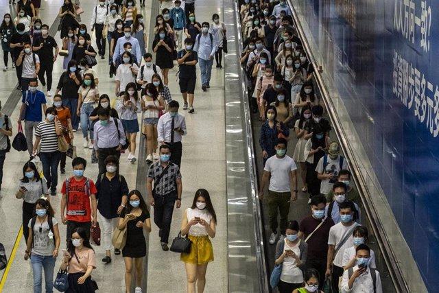 Estación Central de tren en Hong Kong.