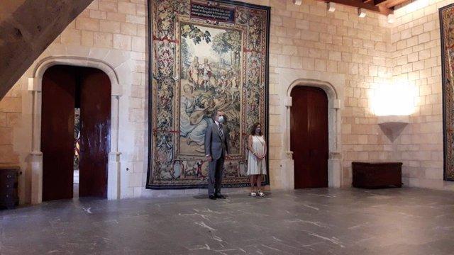 El Rey inicia con Francina Armengol las audiencias con autoridades de Baleares e