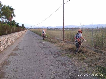 Cort desbroza 33.000 metros lineales de caminos y prevé haber limpiado 100.000 antes de finales de año