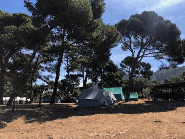 El campamento de La Victòria (Alcúdia, Mallorca).