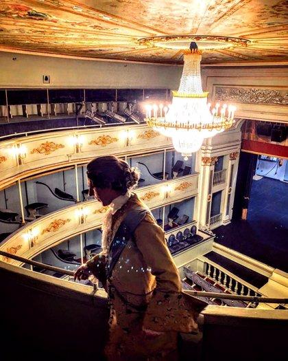 El Real Coliseo Carlos III de El Escorial (Madrid) recupera las visitas teatralizadas desde este martes