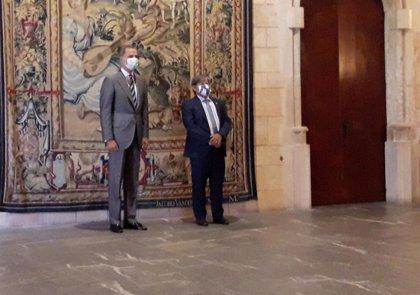 """Rey Felipe.- Thomas transmite a Felipe VI su """"gran preocupación"""" por las altas cifras de trabajadores en ERTE en Baleares"""