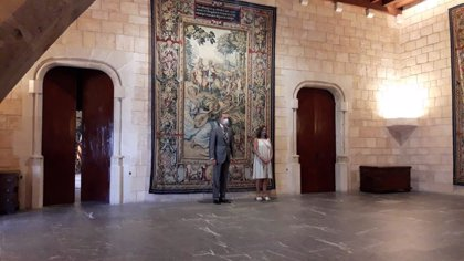 Rey Felipe.- VÍDEO: El Rey inicia con Francina Armengol las audiencias con autoridades de Baleares en la Almudaina