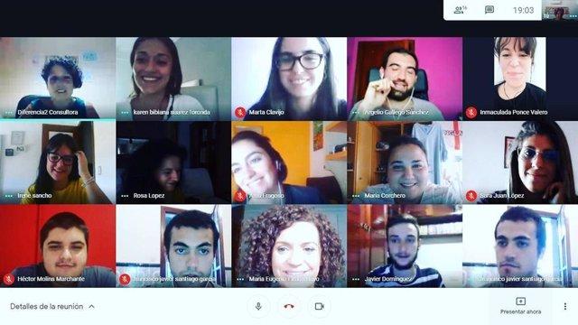 Videoconferencia del proyecto 'Reconoce y Cambia'.