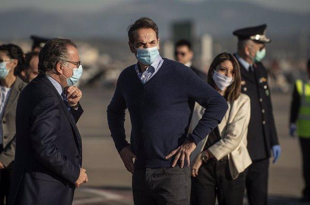Grecia.- El primer ministro de Grecia visita la isla de Eubea, golpeada por las