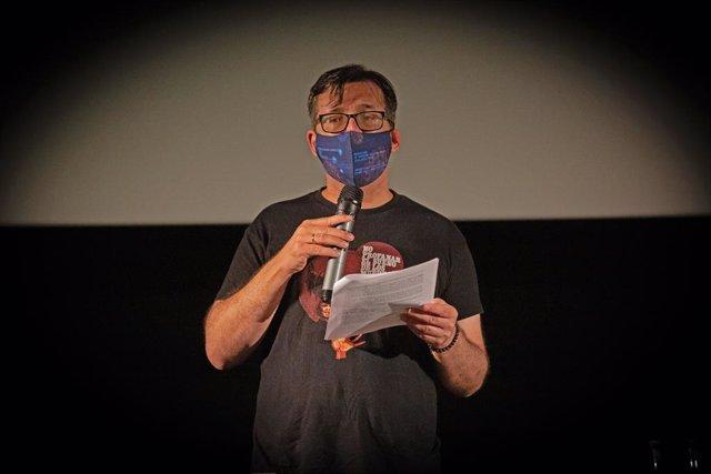 El director del Festival de cinema de Sitges, Àngel Sala, presenta la imatge i primers títols de la 53 edició del Festival Internacional de Cinema Fantàstic de Sitges, a Barcelona, Catalunya (Espanya), a 14 de juliol de 2020 (arxiu).