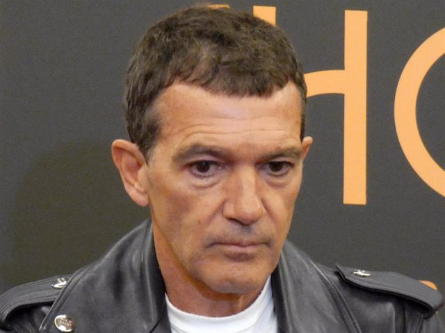 """Antonio Banderas, durante la presentación de """"A chorus line"""" en Barcelona antes del confinamiento"""