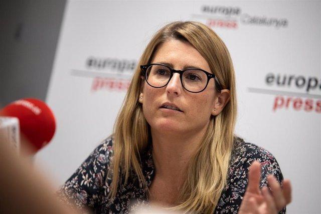 La vicepresidenta del nuevo JxCat y concejal en el Ayuntamiento de Barcelona, Elsa Artadi, en la entrevista de Europa Press