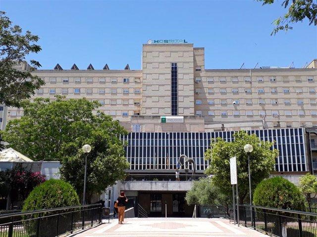 Fachada principal del Hospital de Valme de Sevilla