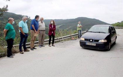 El Principado inicia el estudio del deslizamiento de la AS-331 a la altura de Peón, en Villaviciosa
